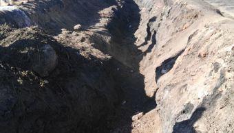 Foto Contaminación en suelo de explosión en Tlahuelilpan, Hidalgo 3 abril 2019