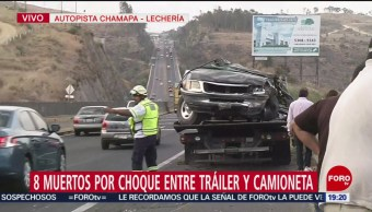 Foto: Muertos Accidente Autopista Chamapa-Lechería Choque 12 de Abril 2019