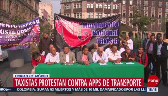 Foto: Taxistas anuncia protesta masiva contra apps