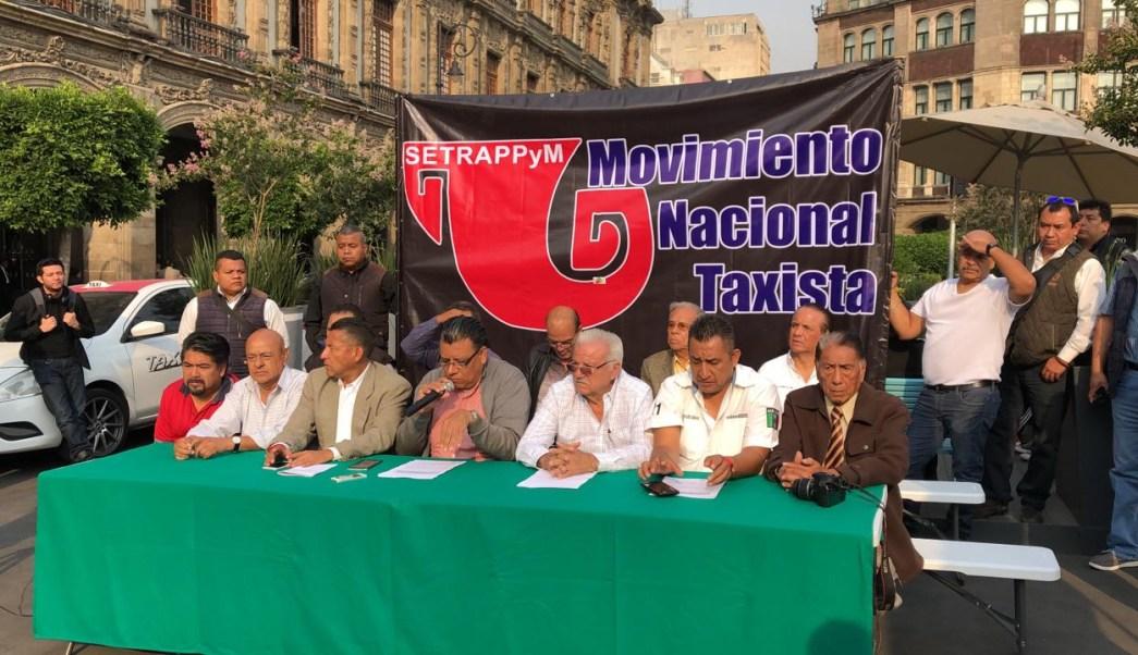 FOTO Taxistas protestan contra apps, anuncian paro y bloqueos para el 3 de junio (Noticieros Televisa 29 abril 2019 cdmx)