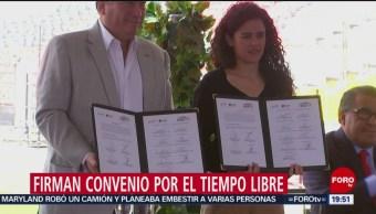 Foto: Televisa STPS Convenio Tiempo Libre Jóvenes 8 de Abril 2019