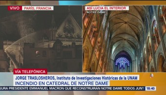 Foto: Tragedia de Notre Dame debe unir a las personas: Traslosheros