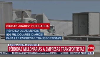 Foto: Transportistas sufren pérdidas por lentitud en cruces fronterizos