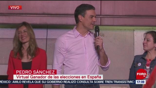 FOTO: Triunfa el PSOE en elecciones legislativas en España, 28 ABRIL 2019