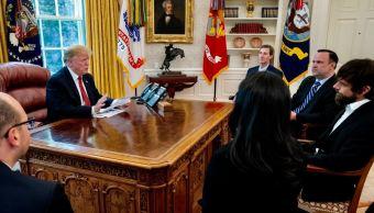 Foto: Reunión del presidente Donald Trump y CEO de Twitter, Jack Dorsey, en la Casa Blanca, 24 abril 2019