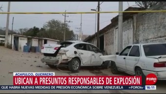 Foto: Explosion Coche Bomba Guerrero Acapulco Policia Comunitaria 5 de Abril 2019
