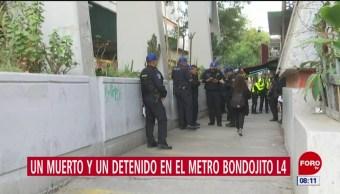 Un muerto y un detenido en el Metro Bondojito, en CDMX