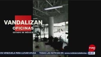 Foto: Vandalizan Oficinas Educativas Toluca Edomex Destrozos 11 de Abril 2019