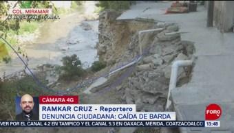 Foto: Vecinos de Naucalpan denuncian desplome de barda