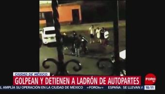 FOTO: Vecinos golpean de autopartes en Iztapalapa, 27 ABRIL 2019