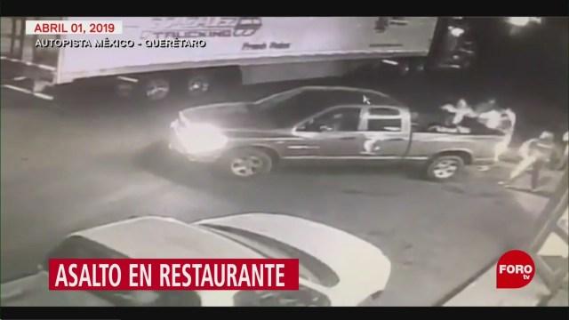 Foto: Video Asalto Restaurante Autopista México-Querétaro 10 de Abril 2019