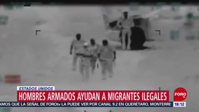 Foto: Video muestra hombres armados cruzando migrantes en frontera de EEUU