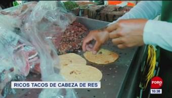Viernes Culinario: Ricos tacos de cabeza de res