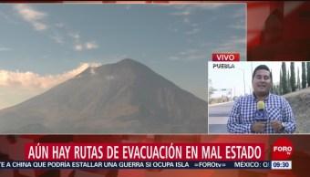 FOTO: Volcán Popocatépetl amanece en calma, 7 de abril 2019