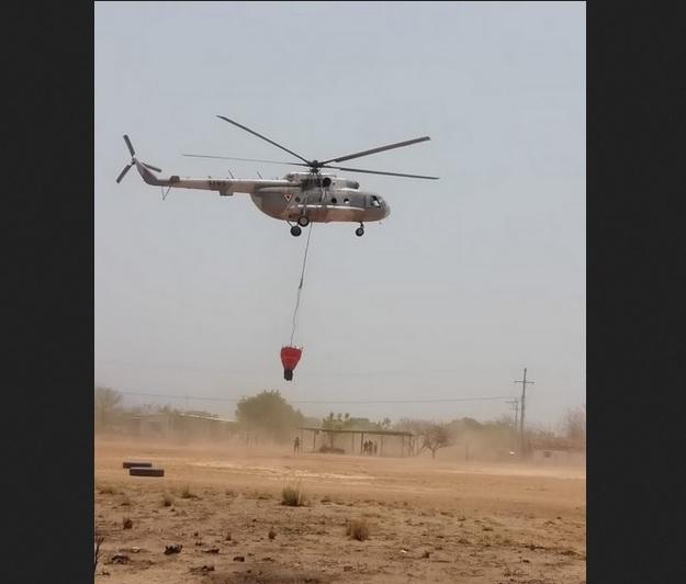 Foto: Se desploma helicóptero de la Marina, 24 de mayo 2019. Twitter @CONAFOR