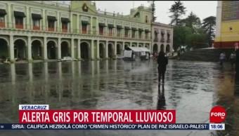 FOTO. Activan alerta gris por lluvias en Veracruz