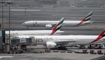 FOTO Aerolíneas, en riesgo al volar en Golfo Pérsico, advierte EU (AP 9 mayo 2018 dubai)