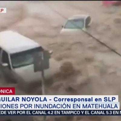 Afectaciones por inundación en Matehuala, San Luis Potosí