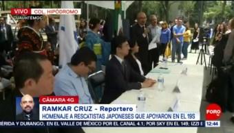 Alcaldía Cuauhtémoc rinde homenaje a rescatistas de Japón durante sismo 19S