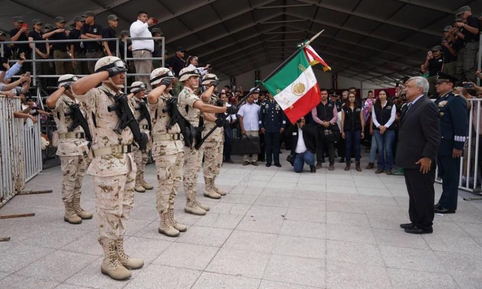 Foto: AMLO agradeció el apoyo y la lealtad del Ejército a las instituciones, el 6 de mayo de 2019 (Gobierno de México)