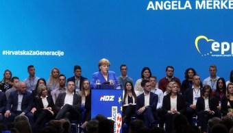 Foto: La canciller alemana, Angela Merkel, habla durante el Partido Popular Europeo (PPE), 18 de mayo de 2019 (Reuters)