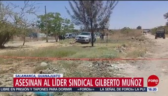 FOTO: Asesinan a líder sindical Gilberto Muñoz Mosqueda en Salamanca, Guanajuato, 11 MAYO 2019