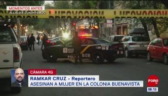 Asesinan a mujer en la colonia Buenavista, en CDMX