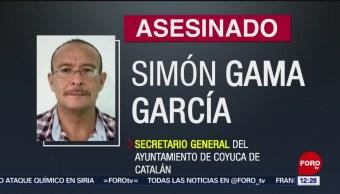 Asesinan al secretario general del Ayuntamiento de Coyuca de Catalán, Guerrero