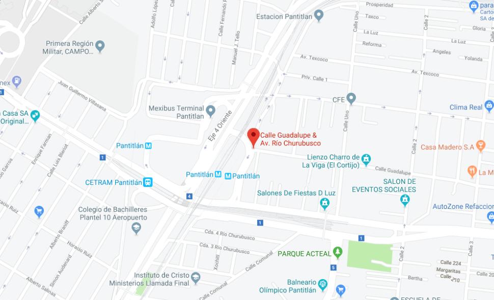 IMAGEN Asesinan a hombre afuera del Metro Pantitlán de la CDMX (Google Maps 2019)