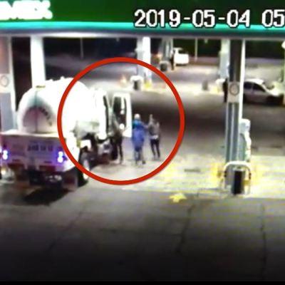 Así roban pipas de gas LP en gasolineras de Puebla