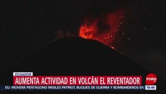 FOTO: Aumenta actividad del volcán Reventador en Ecuador, 11 MAYO 2019