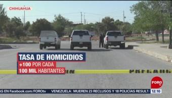 FOTO: Aumentan homicidios dolosos en Chihuahua, 25 MAYO 2019