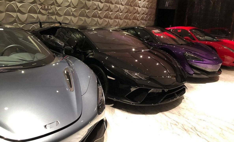 Foto: Autos de lujo asegurados a banda de hackers, 16 de mayo 2019. Twitter @PGR_AIC