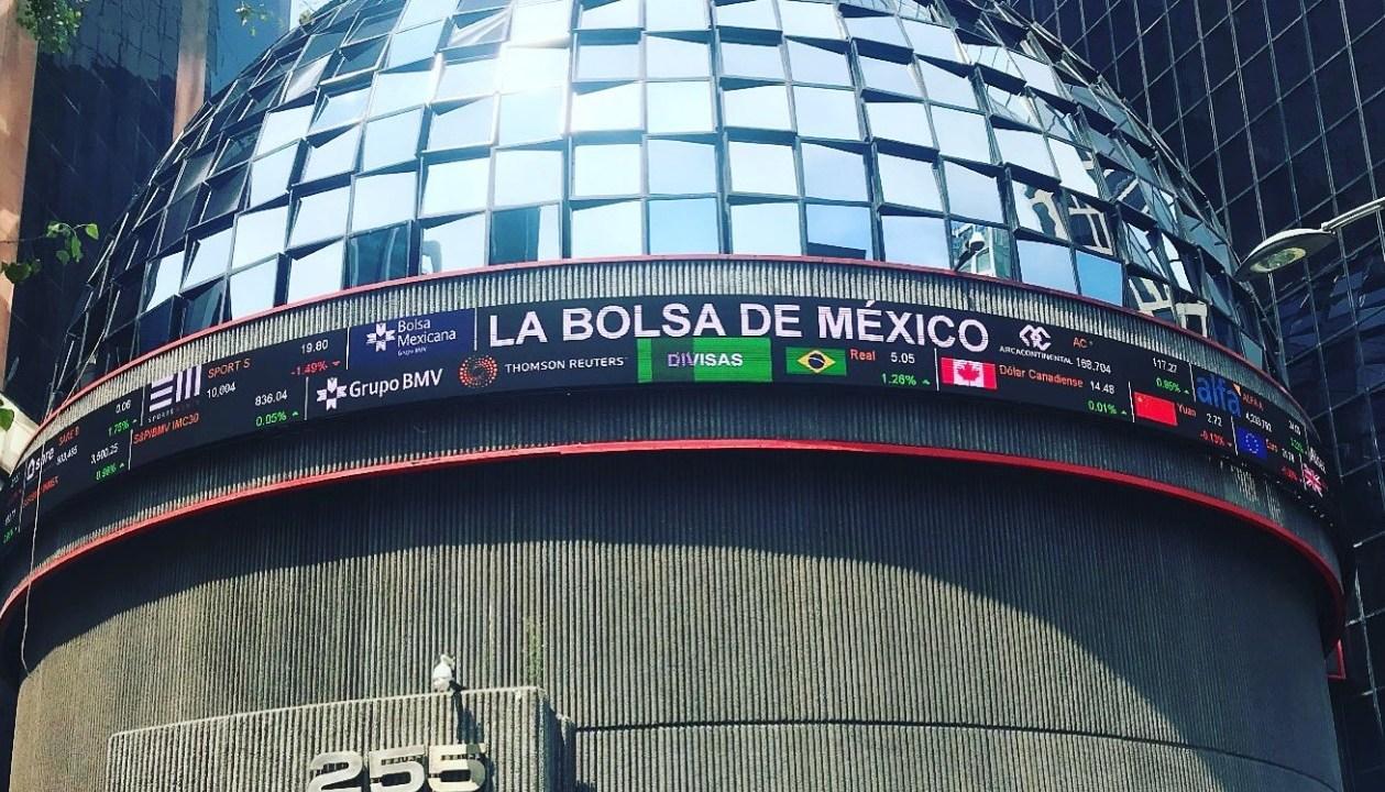 Foto: Bolsa Mexicana de Valores en la Ciudad de México, mayo 29 de 2019 (Twitter: @nomiprins)