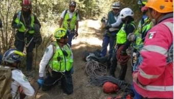 Foto: Equipos de rescate buscan a una mujer extraviada en las faldas del volcán Iztaccíhuatl, el 10 de mayo de 2019 (SSC capitalina)