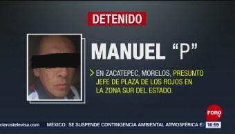 """FOTO:Cae Manuel """"P"""" presunto jefe de Los Rojos en zona sur de Morelos, 19 MAYO 2019"""