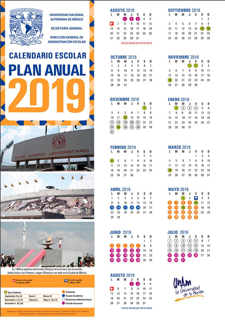 FOTO calendario anual 2019