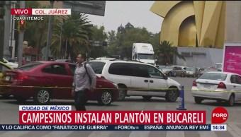 FOTO: Campesinos instalan plantón en Bucareli, 27 MAYO 2019