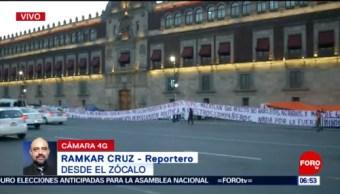 Campesinos protestan frente a Palacio Nacional en CDMX