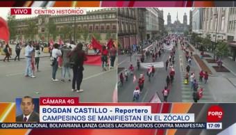 FOTO: Campesinos se manifiestan en el Zócalo, 1 MAYO 2019