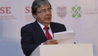 fOTO:El ministro de Relaciones Exteriores de Colombia, Carlos Holmes, en la inauguración del Parque Alianza del Pacífico, 11 mayo 2019