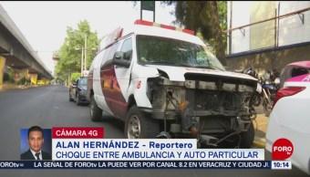 FOTO: Choca ambulancia contra taxi en colonia Bondojito, CDMX, 25 MAYO 2019