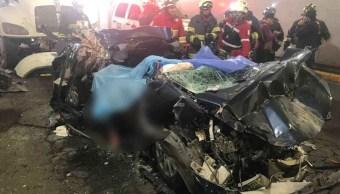 Un choque en Periférico y Constituyentes deja cuatro muertos