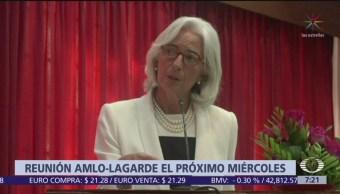Christine Lagarde se reunirá con AMLO