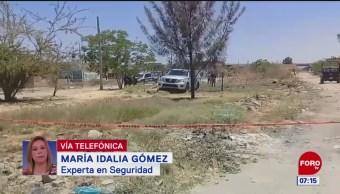 CJNG se adjudica atentados para intimidar a las autoridades, dice María Idalia Gómez