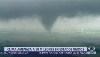 Clima amenaza a 50 millones en Estados Unidos