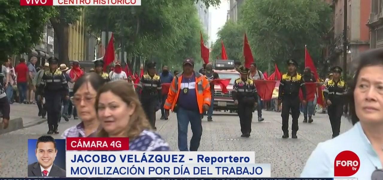 FOTO: Contingente avanza por 5 de mayo rumbo al Zócalo, 1 MAYO 2019