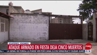 Foto: Investigación Múltiple Homicidio Fiesta Coacalco 27 Mayo 2019