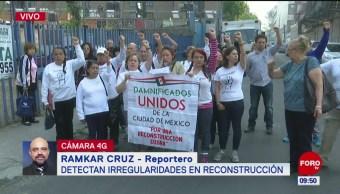 Damnificados de la CDMX denuncian irregularidades en reconstrucción