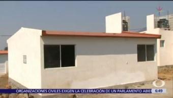 Damnificados de Morelos reciben nuevas viviendas